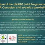 The Future of the UNAIDS Joint Programme Model: A Canadian civil society consultation