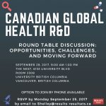 Canadian Global Health R&D - Round Table Discussion: Opportunities, challenges, and moving forward