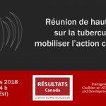 Webinaire : Réunion de haut niveau sur la tuberculose : mobiliser l'action canadienne