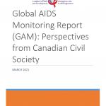 Rapport sur le suivi mondial de la lutte contre le sida (GAM) : Perspectives de la société civile canadienne