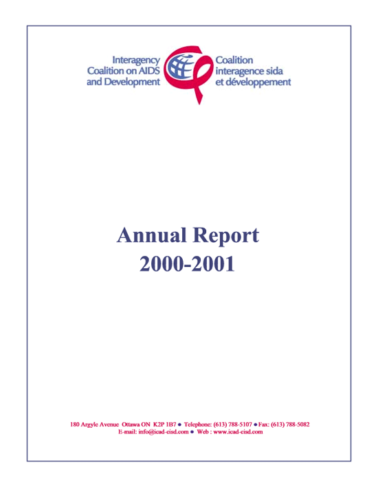Annual Report 2000-2001