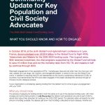 Community Update for Key Population and Civil Society Advocates
